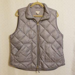 J. Crew | Gray Quilted Vest